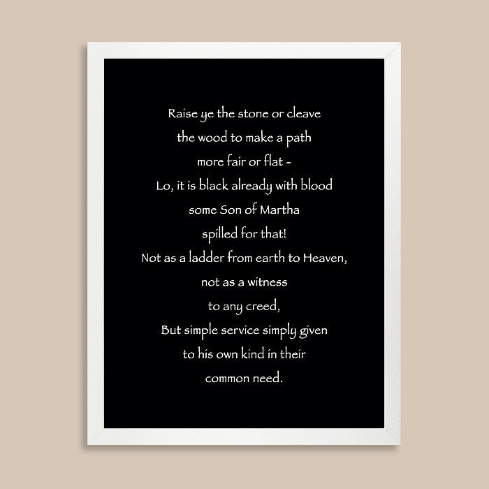 Custom Poem Print // Antique Calligraphy Text