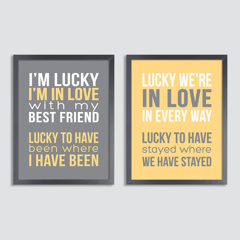 Personalized Quote Print  Set // Varied Text