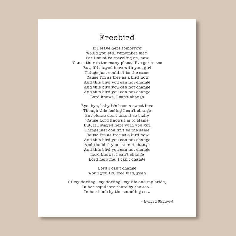 Typewriter Style Quote Print // Literary Print