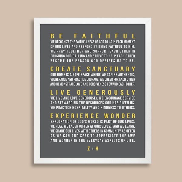Family Rules Wall Art // Bold Text