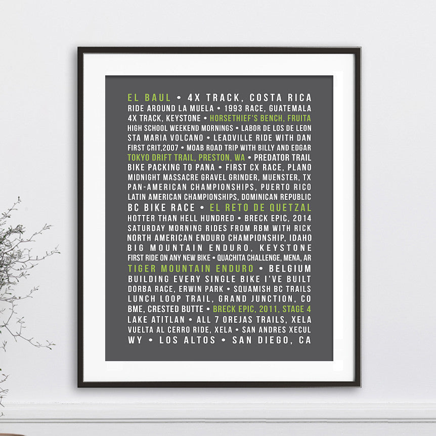 Custom Special Memories Print //  Word Art
