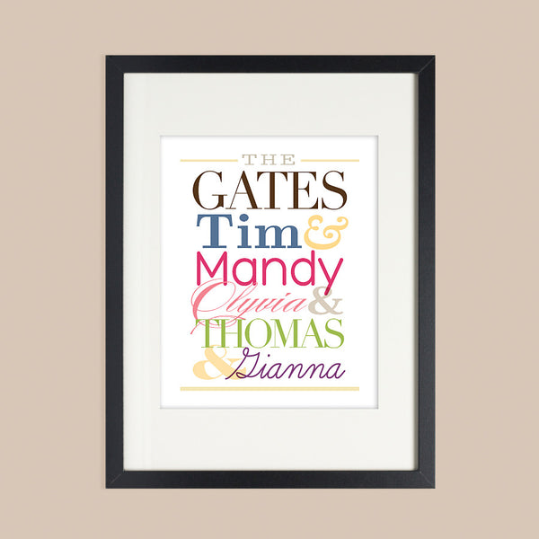 Personalized Family Wall Art // Family Names