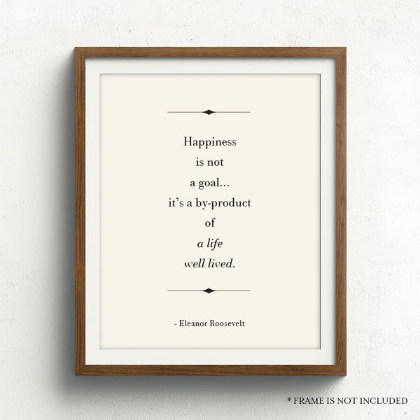 Life Well Lived Quote // Eleanor Roosevelt