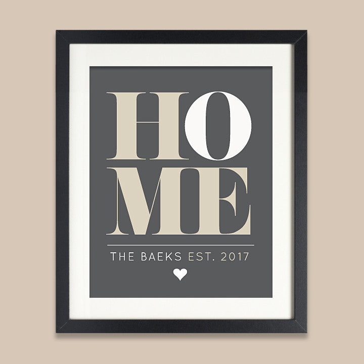 Personalized Home Print // Block Serif Text