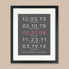 Important Date Family Art Print // Highlighted Date