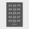 Family Birthdates Print // Family Name