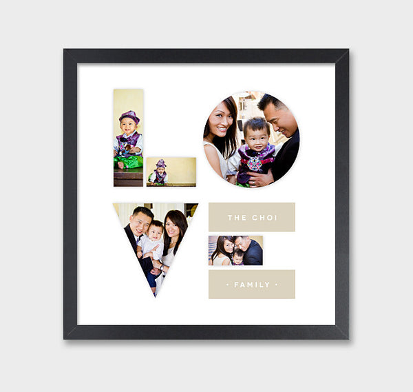 LOVE Photo Art Print // Family Photo Collage