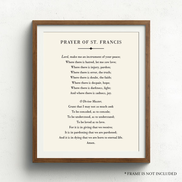 Prayer of St. Francis Art Print // Peace Prayer