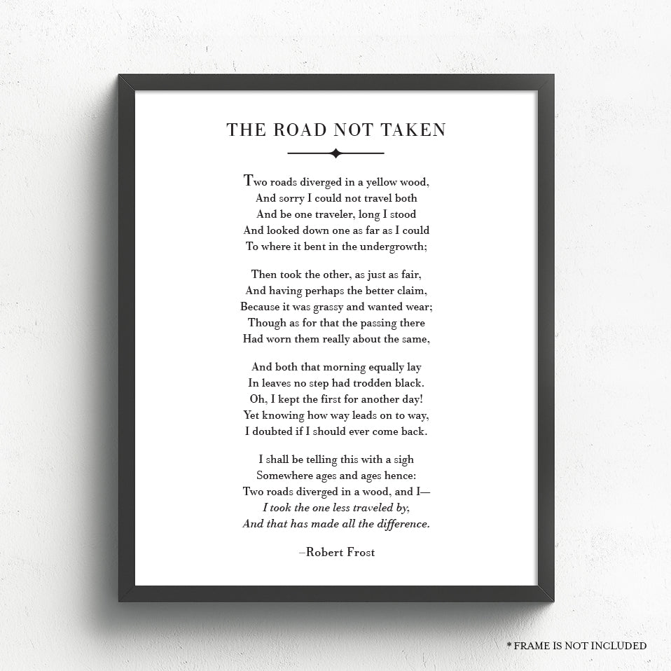The Road Not Taken Poem // Robert Frost