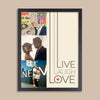 Live Laugh Love Couple's Photo Wall Art // Engagement, Wedding