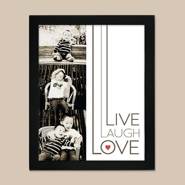 Live Laugh Love Print // Kids Photo Collage