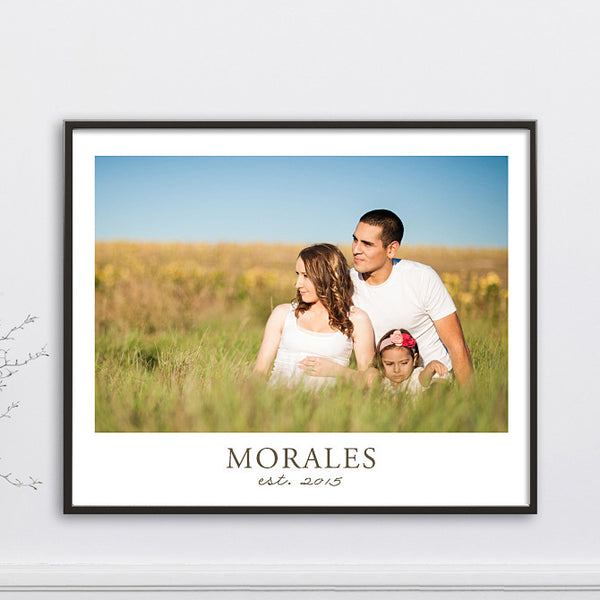 Family Name & Year Established  // Personalized Photo Gift