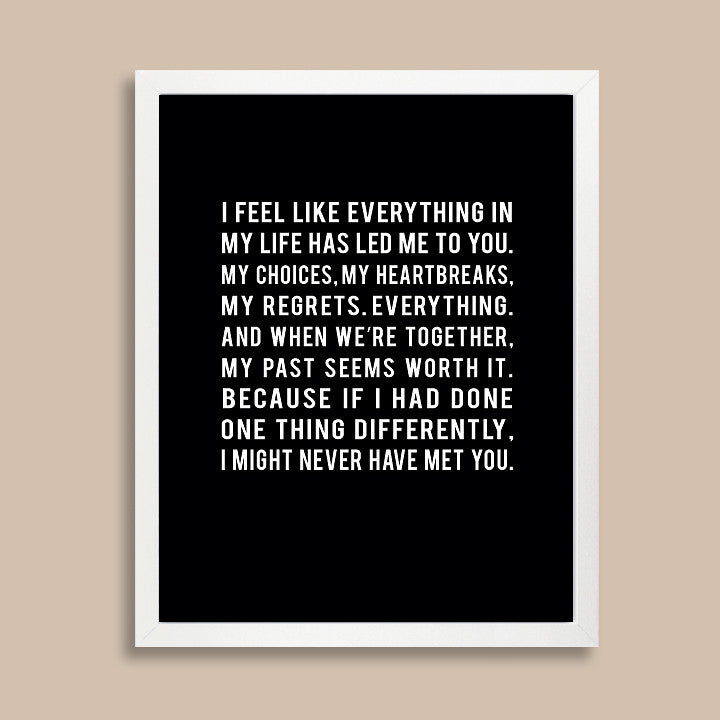 Love Quote Print Long Distance Relationship Gift Papermints