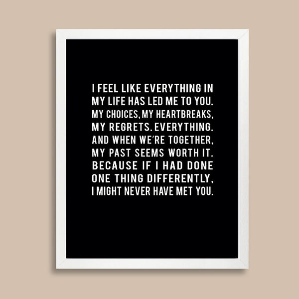 Love Quote Print // Long Distance Relationship Gift
