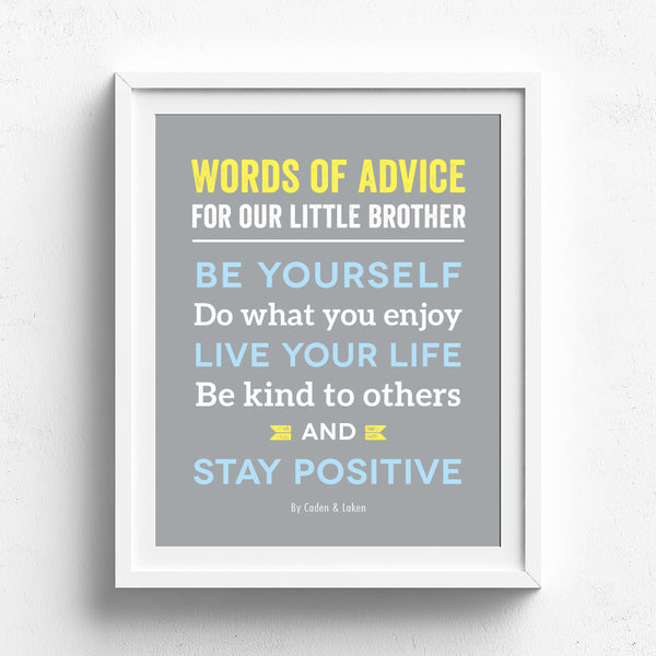 Kids Quotes Wall Art // Custom Text
