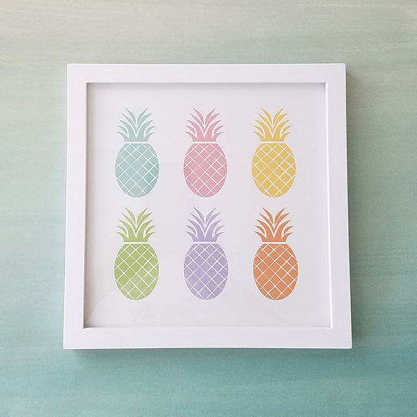 Pineapple Art Print // Colorful