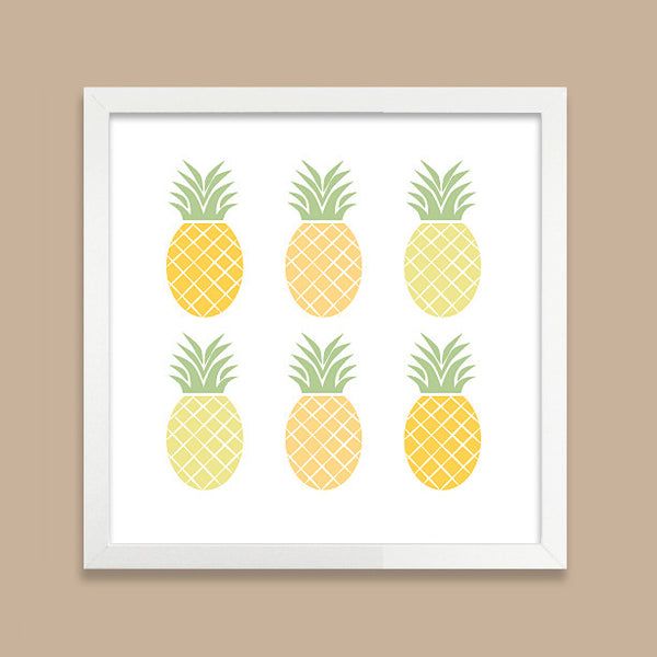 Ombre Pineapple Art Print