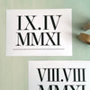 Roman Numeral Date Print // Horizontal Layout