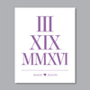 Roman Numeral Date Print // Names & Heart