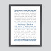 Nautical First Dance Song Print // Anchor Motif
