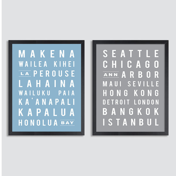 Custom Subway Sign // Set of Two Prints