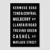 Custom Subway Art Print // Street Names & Favorite Places