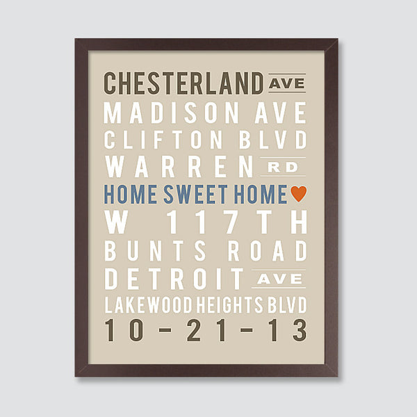 Custom Subway Art Print // Home Sweet Home