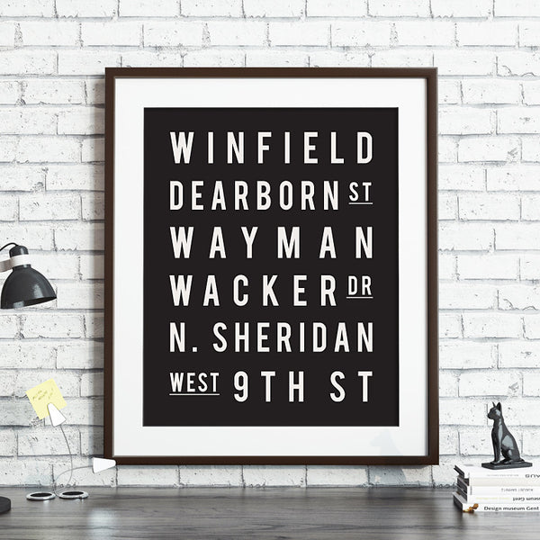 Custom Subway Sign Poster // Street Names & Places