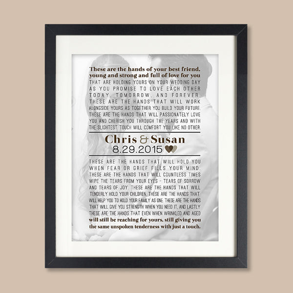 Wedding Photo Words Print // Song Lyrics, Vows, Poem