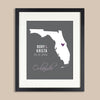 Florida Wedding Map Print // ANY State or City