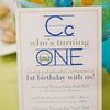 Alphabet Birthday Invitation