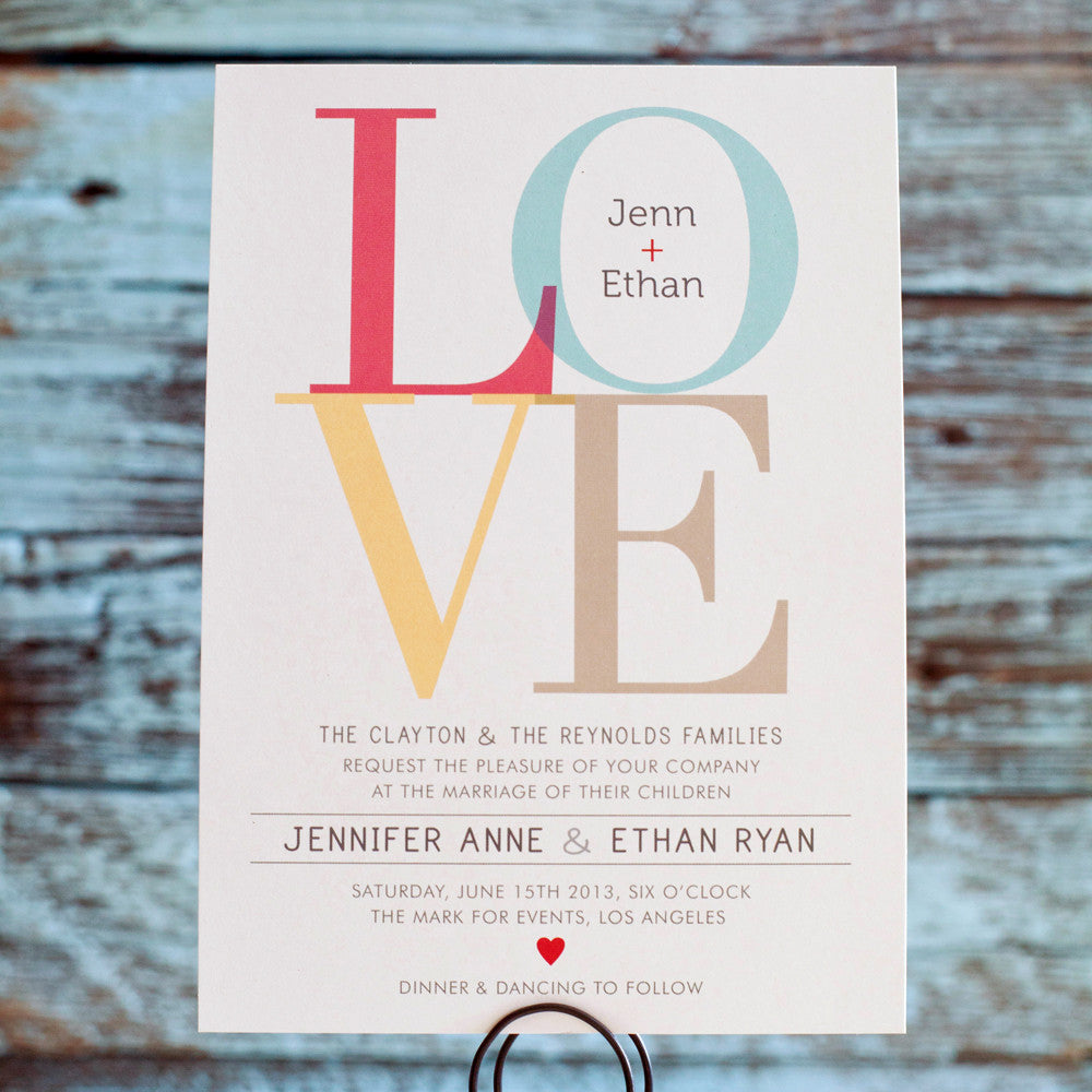 Love Wedding Invitation // Wedding, Engagement, Shower