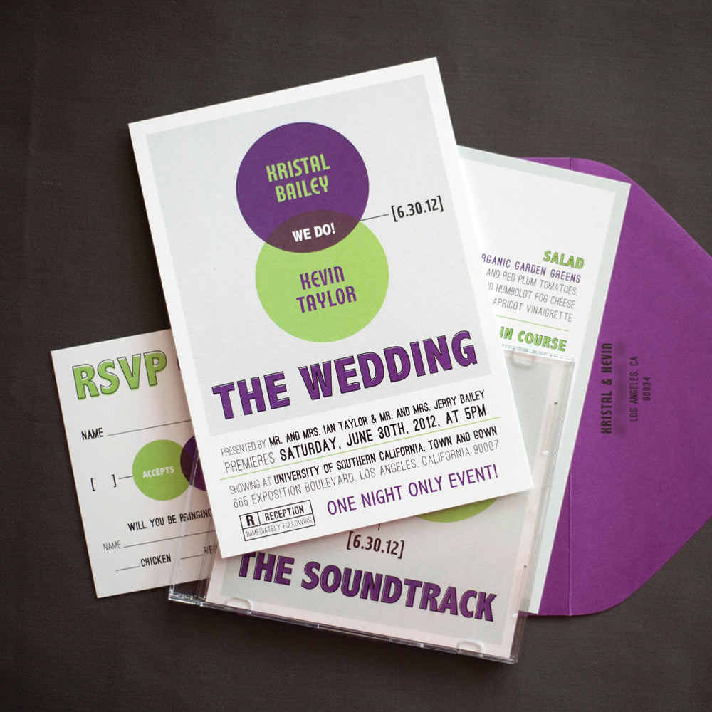 Venn Diagram Wedding Invitation