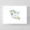 Floral Square Frame Wedding Guest Book Alternative // Poster or Canvas