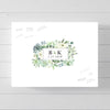 Monogram Greenery Succulent Frame Wedding Guest Book Alternative // Poster or Canvas