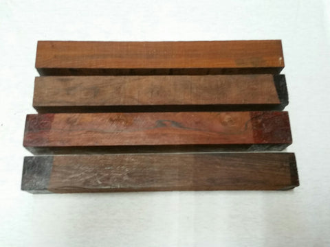 "ON SALE!  Cocobolo 1.5"" x 1.5"" x 12"""