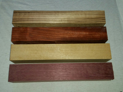 "Spindle Blank 4 Piece Project Pack 2"" x 2"" x 12"""