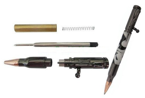 Bolt Action Rifle/Bullet Pen Kit - Gun Metal Finish