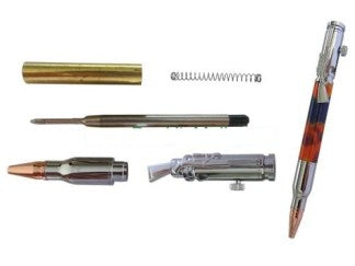 Lock 'N Load Rifle/Bullet Pen Kit (Bolt Action Style) - Chrome Finish