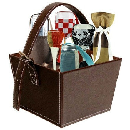 Brown Leather Basket - Free Basket - It's All About An Idea