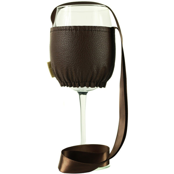 Brown Wine Necklace Holder Large, It's All About An Idea, Wine Necklace Holder, Wine Festival, Wine & Food Festival, Keep Your Hands Free for Food degustation, Have Fun, at your Private Party with Hands Free,