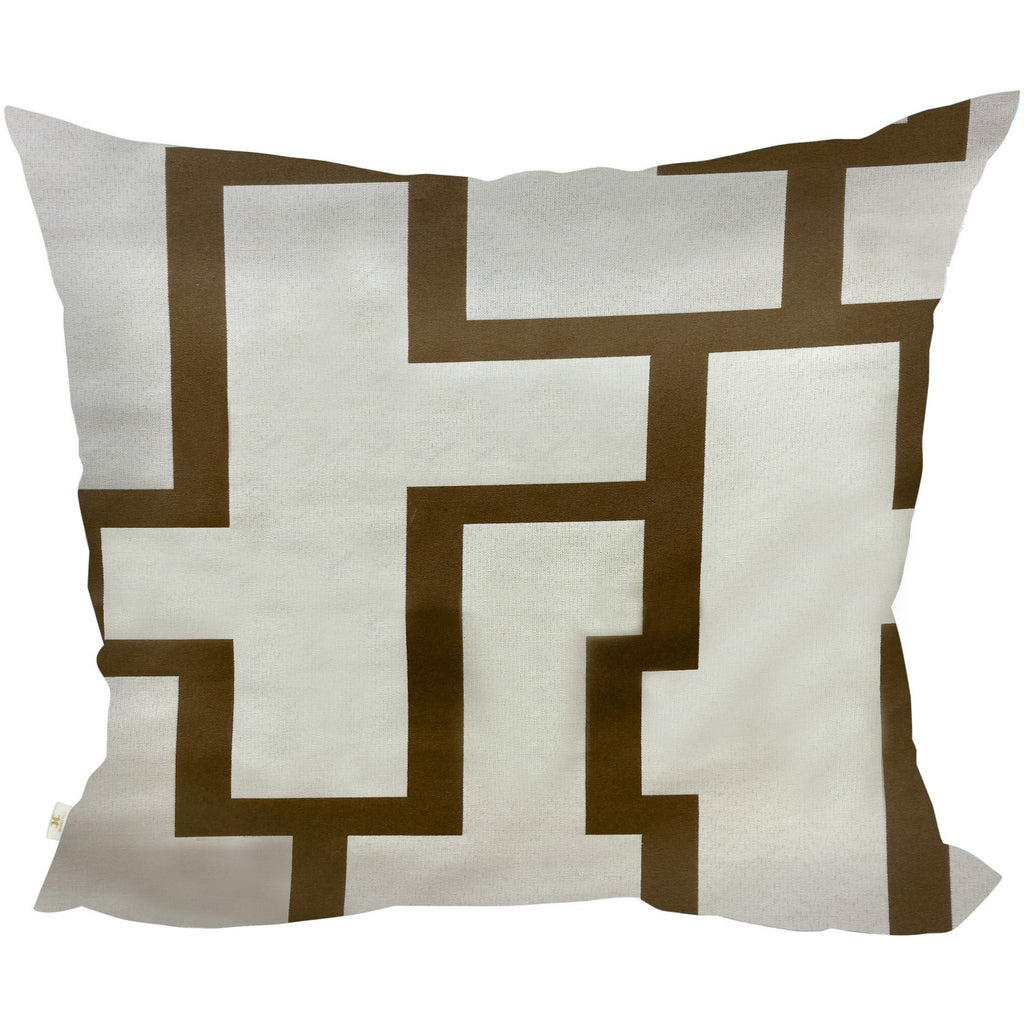 Blocc Decorative Pillow Covers Collection  Beige-Brown, Square Set of 2. - It's All About An Idea