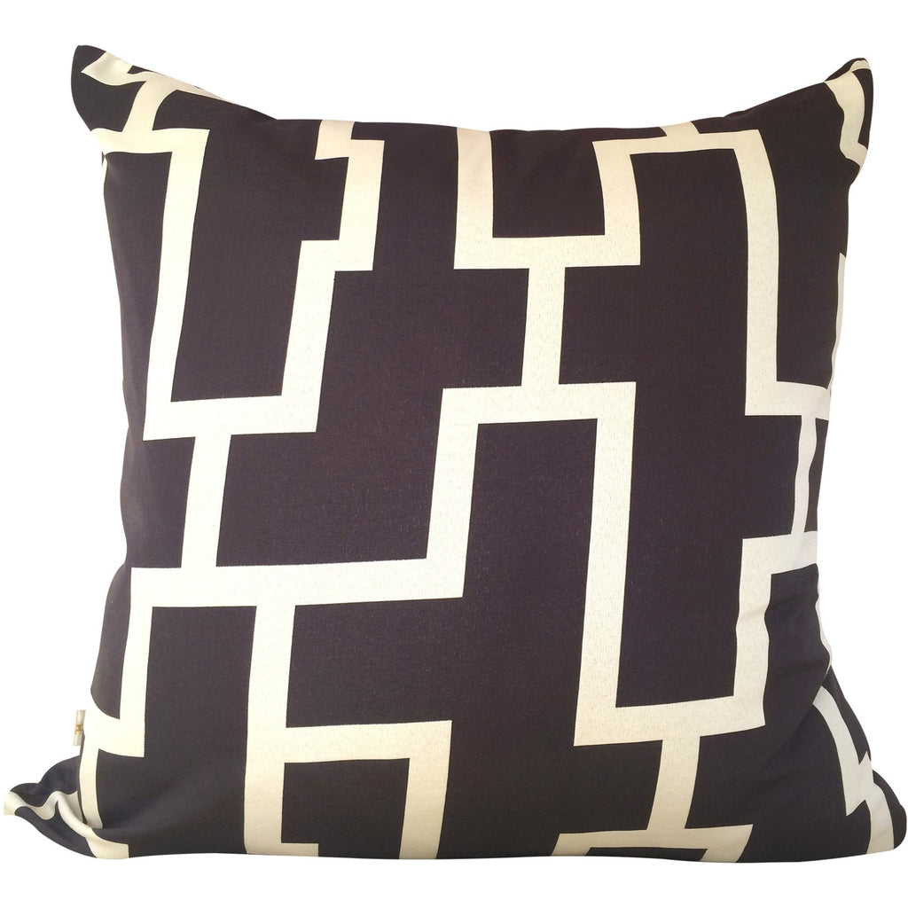 Blocc Decorative Pillow Covers Collection Brown-Beige, Square Set of 2. - It's All About An Idea