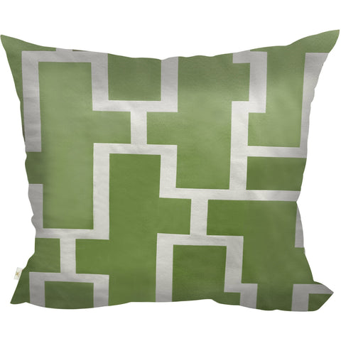 Blocc Decorative Pillow Covers Collection  Green-White, Square Set of 2. - It's All About An Idea