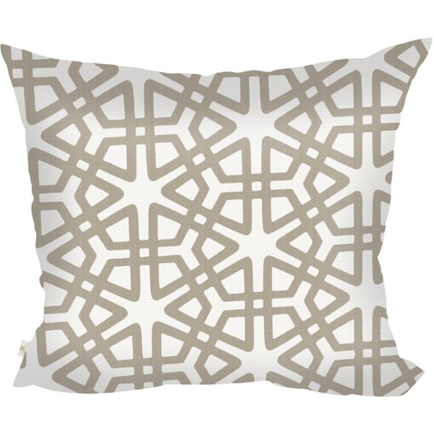 Geom Decorative Pillow Covers Collection  Off-White, Square Set of 2. - It's All About An Idea