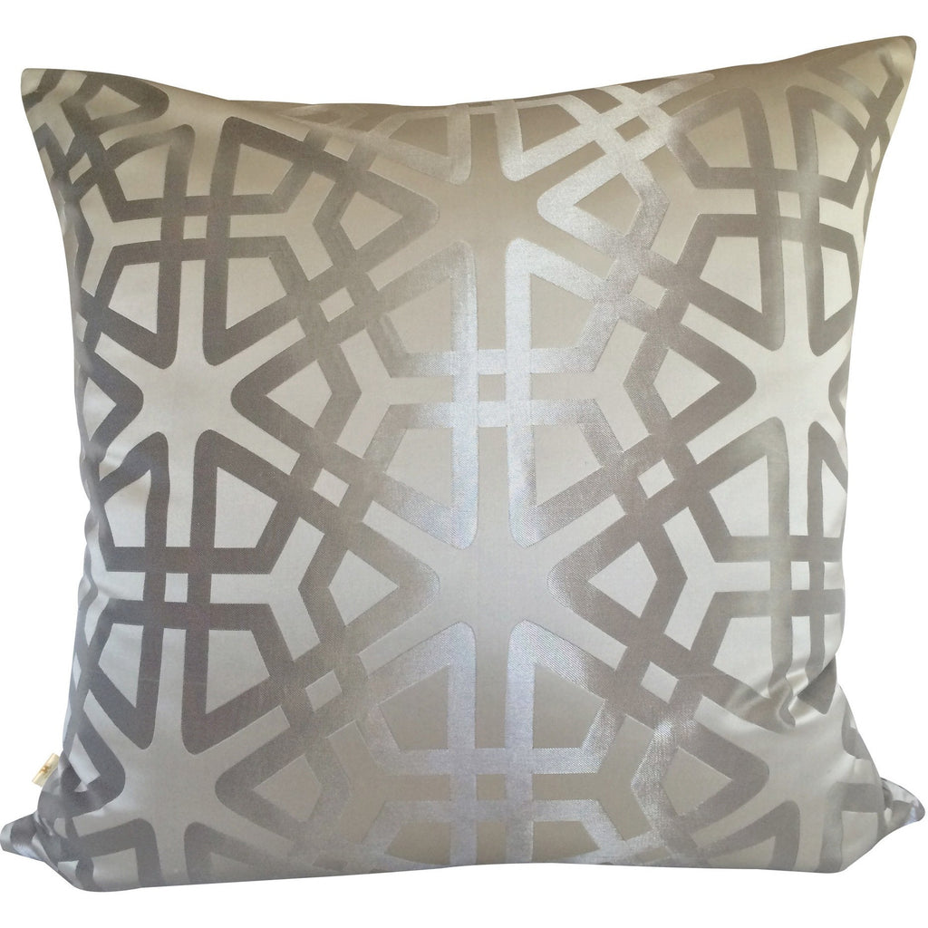 Geom Decorative Pillow Covers Collection Silver, Square Set of 2. - It's All About An Idea