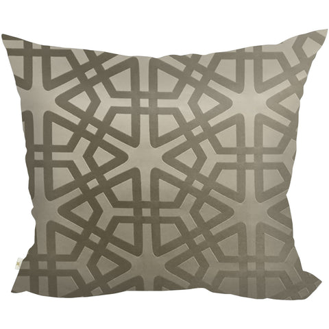 Geom Decorative Pillow Covers Collection Mocha, Square Set of 2. - It's All About An Idea