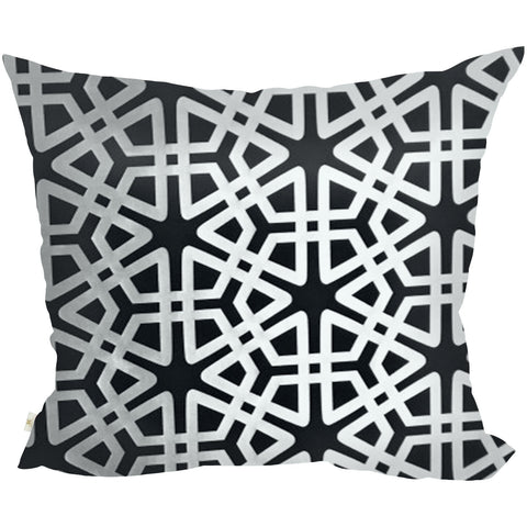 Geom Decorative Pillow Covers Collection Black, Square Set of 2. - It's All About An Idea