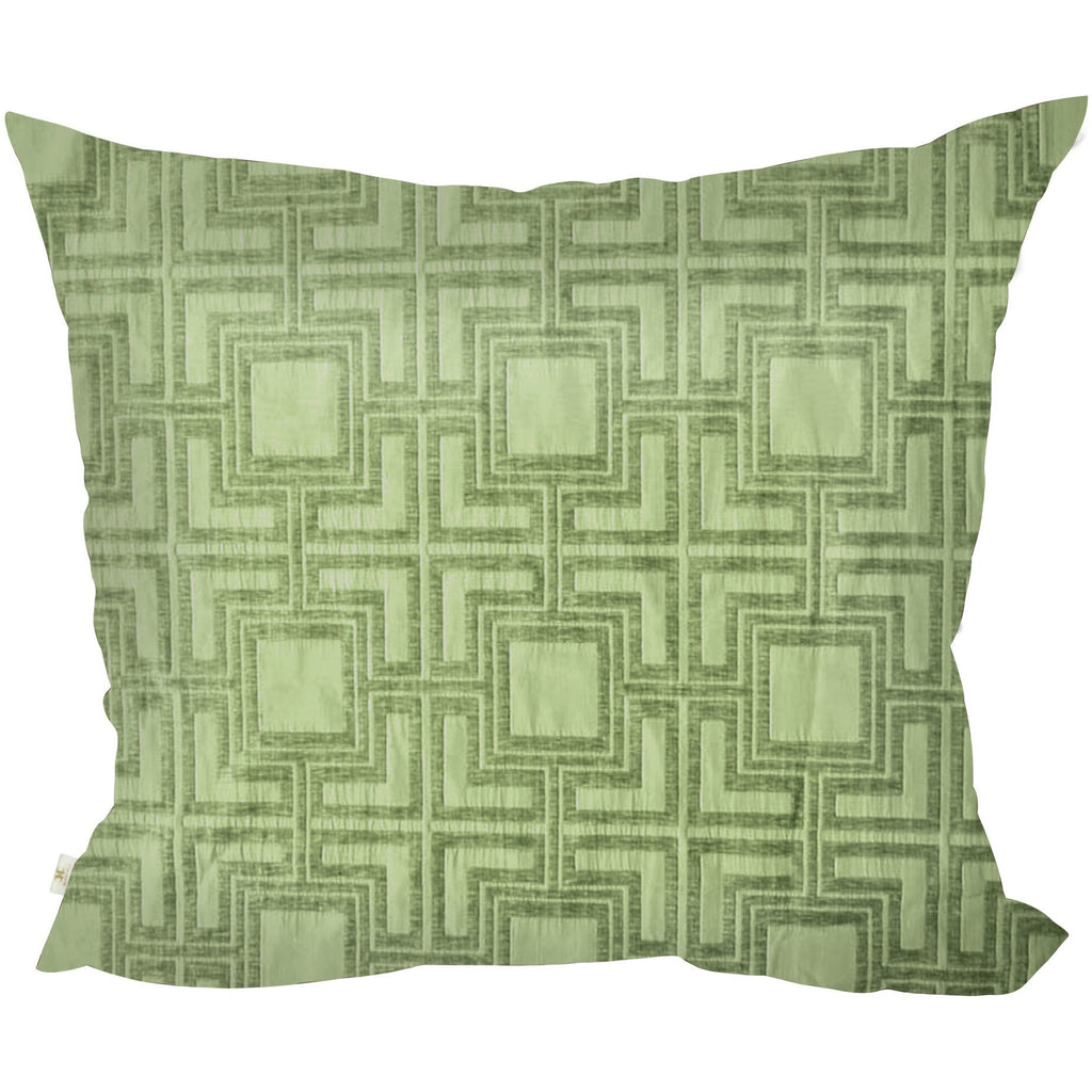 Tagon Decorative Pillow Covers Collection Lime, Square Set of 2. - It's All About An Idea