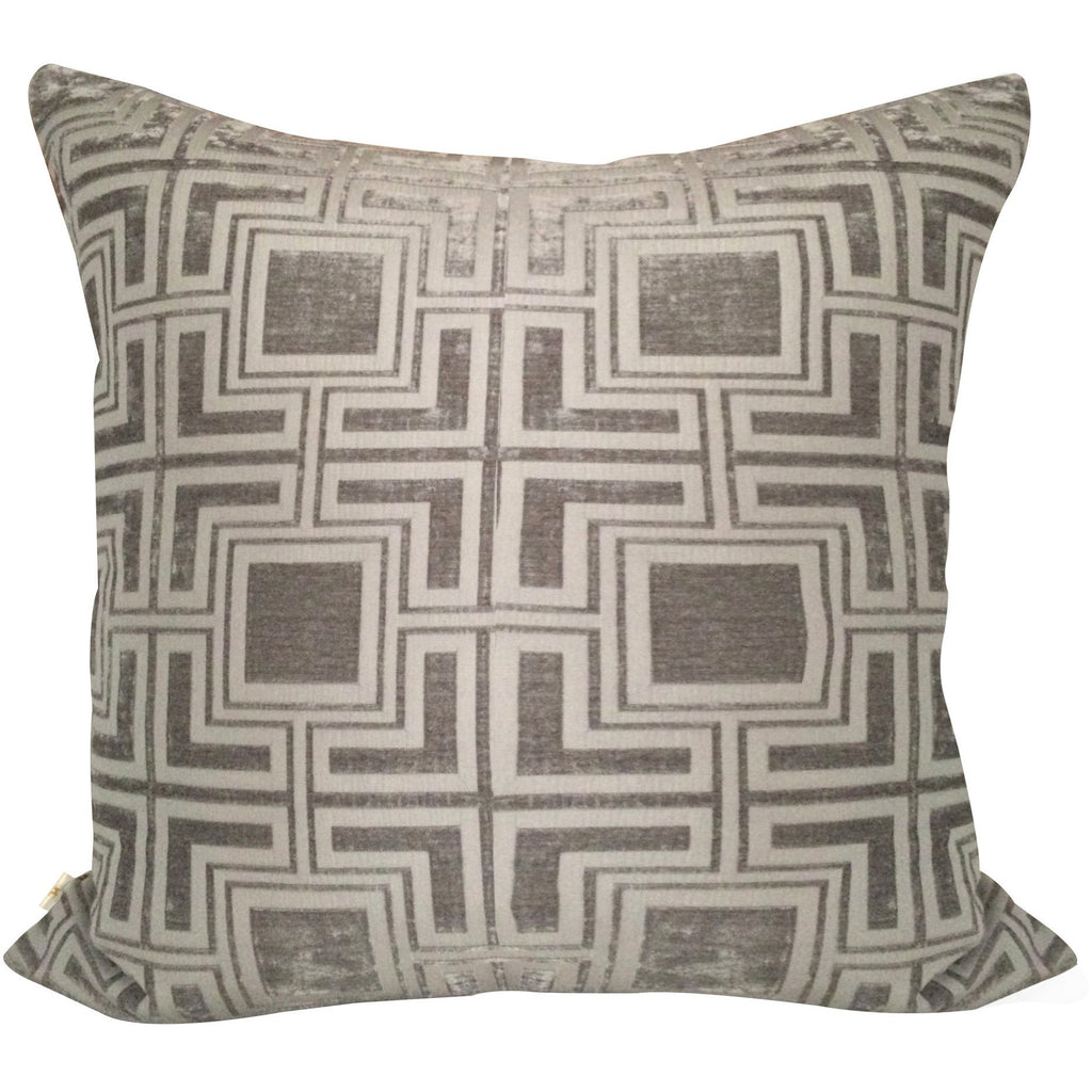 Tagon Decorative Pillow Covers Collection Silver, Square Set of 2. - It's All About An Idea